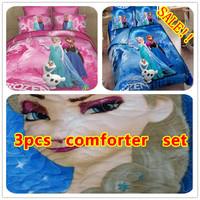 NEW!! 3pcs Frozen Comforter Set Single/Double/Queen Frozen Quilt Set Bedspread Attractive Choice for Kids Wholesale Dropship