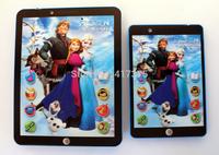 Spanish Anna Elsa princess educational mini pad,Spanish language intelligent dolls electronic  learning machine for child kids