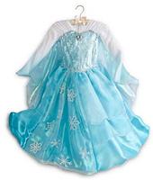 1PCS 2014 new New Arrival Custom Made Elsa Princess Dresses for Girls Long Sleeve From Frozen Party Dress Ball Grown Dress