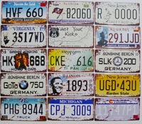 3pcs/ lot License Plates Sign Vintage Art Wall Plaque decoration Metal Painting PUB Cafe iron card 15x30cm
