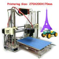 LCD Screen Aurora Impressora Partilhada Model DIY KIT Reprap Prusa I3 High Accuracy 3D printer kit 270*200*170mm big print size