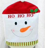 2014 Hot sale  50*60 cm Christmas chair cover Christmas Ornament Santa Claus / Snowman / deer New year dinner chair Decoration