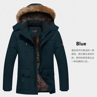 2015 new winter clothing thickening thermal plus velvet hooded wadded jacket male casual outerwear 4XL 5XL fashion men jacket
