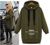 New 2014 Women Hoodies Fashion Fleece Pullovers for Women Autumn Coat Long Sleeve Sweatshirts for Lady Hoody Loose