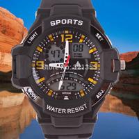 New Men Sports Military Watch Fashion Casual Dress Wristwatches Dual time Digital Analog Quartz  Watches Relogio Masculino