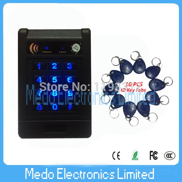 Contact-less Inductive Access Control System RFID Card Luminous Keypad Proximity Door Lock with External Reader Function(China (Mainland))