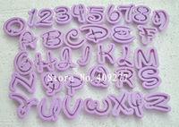 36PCS Fondant Cake Decoration Tools Font Alphabet Cutter number Letters cutter set
