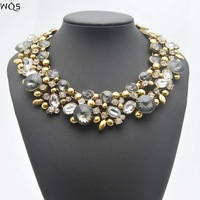 2014 New Hot CREW Brand Necklaces & Pendants Trend Fashion Colorful Pendant Choker Statement Necklace For Women Vintage Jewelry