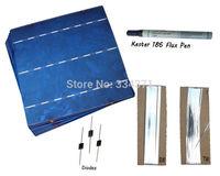 Hot* DIY solar panel kit 40- 6x6 solar cell +tab bus +flux pen + diodes, free shipping