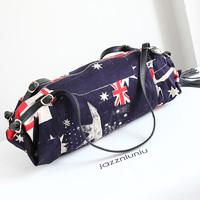 women fashion denim handbag casual flag version female dumplings package bag Top Quality