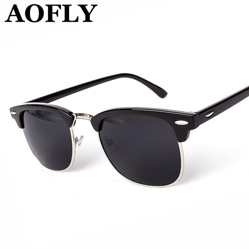 Wayfarer Clubmaster Half Metal Sunglasses Men Women Brand Designer Glasses G15 Coating Mirror Sun Glasses Fashion Oculos De Sol(China (Mainland))