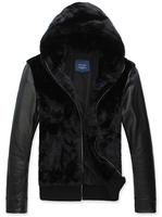 Winter Jackets and Coats leather jacket mans Fur collar upset coats men clothes Leather Suede coat male Plus Size XXXL 2015