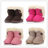 2014 New children snow boots fur winter girls Children Thicken Shoes For baby Kids child snow boots 5 colour#DJW36