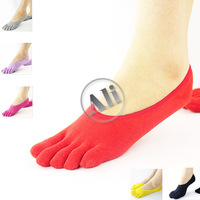 NEW Antibacterial Sock Slippers Breathable Stealth Cotton Five Toe Socks Leisure socks 10pcs Free Shipping