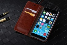 Luxury Business Wallet Flip Leather Case With Stand ID Crad Slot Card 5.5″ For iPhone 6 Cases For iphone6 i6 Bags Cover
