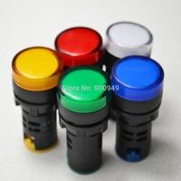 New 5Pcs 24V 22mm LED Indicator Pilot Signal Light Lamp Red Green Blue Yellow White