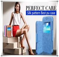 4 colors free shipping high quality pu leather flip case for acer liquid e700 case cover with view window o2
