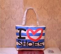 New Fashion Canvas Shopping Bag Women Casual Canvas Bag Cute Printing Shopping Bag Office Lady Tote Bag 50pcs/lot Mixed Sale