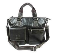 men's handbag genuine leather bag man brand new luxury high quality laptop vintage business shoulder bag briefcase LM1053