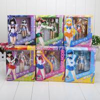 15cm 6inches Japanese Anime Sailor Moon Mercury Mars Venus PVC Action Figure Toy children's Christmas gifts