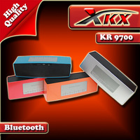 KR9700 Bluetooth  High Quality Rectangle Bluetooth NFC Bass Subwoofer Speaker Support U Disk and FM Radio With Free Shipping