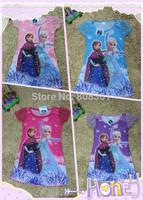hot sales of frozen girl dresses,girl Elsa and Anna's clothes,frozen pajamas,FROZEN cartoon design clothing,children's dresses