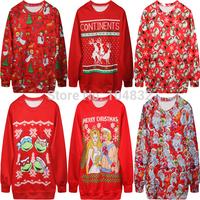 EAST KNITTING New Fashion  Women Sport Sweatshirts 3D  Christmas Printed Harajuku Women Clothing Free Shipping