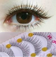 Natural 10Pair/Lot long False Eyelashes make up Mink Eyelash Lashes Voluminous Makeup Tail Winged maquillaje lashes 219