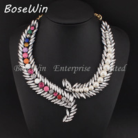 2014 Fashion Famous Z Brand New Design Crystal Gems Pearl Chokers Collar Necklaces Vintage Statement Jewelry For Women CE2562