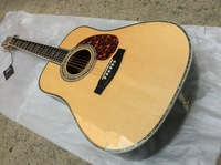 NEW Acoustic Dreadnought Guitar All Solid wood Acoustic Guitar With case Free shipping
