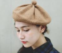 Wholesale 10pcs Ladies Winter Plain Wool Beret Caps Beautiful Lady Spring Felt Beret Hat Trendy Women Winter Woolen Caps Hats