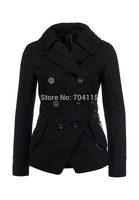 2014 women woolen embroidered black jacket