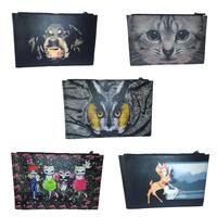 1111 shopping festival Owl Bag 2014 New Women Clutch Bag Genuine Vintage Evening Party Handbag Zip Folder Pouch Cosmetic Cartoon
