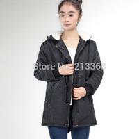 Women Long Sleeve Thicken Fleece Hooded Parka Zipper Overcoat Winter Coat Jacket Plus Size S M L XL Free Shipping