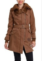 Fashion Autumn and Winter Woolen Double Collar Coat