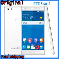 Original ZTE Star1 One 4G LTE Mobile Phone 5.0 IPS 1920*1080 Qualcomm Quad Core CPU 2GB RAM 16GB ROM Android 4.4 WCDMA 3G GPS