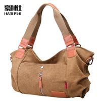 2015 canvas bag Korean version 5 colors shoulder bag women Messenger bags handbags new fashion casual retro canvas handbags