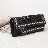 women fashion double layer retro denim messenger bag female woven decoration Crossbody small Bag