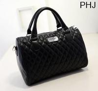 2013 Fashion designer handbag women Messenger bags mango black plaid bucket bag