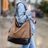 New fall women handbags large capacity blast wave Korean special oversized shoulder bag casual women canvas bag handbag women