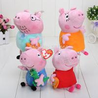 """30sets 7""""-8"""" 18CM-20CM Peppa Pig Family Plush Doll Stuffed Toy DADDY MUMMY Peppa GEORGE"""