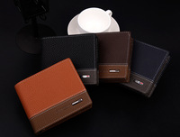 ching Leather Wallet Mens short paragraph thickened men's Cross wallet students zero wallet Yiwu leather goods wholesale
