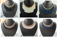 New Arrival Vivi Magazine Retro Handmade False Collar Necklace Vintage Crystal Bead Choker For Women Statement Wedding Jewelry