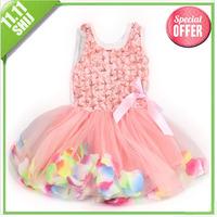 11.11 wholesale 2014 Christmas kid party tutu cake dress 3~11age wholesale girls apparel free shipping