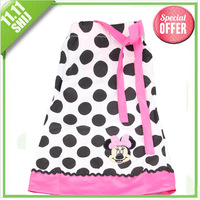 11.11 wholesale clothing  girls apparel 3~7age minne mouse/peppa pig/polka girl dress cartoon print princess beach dress