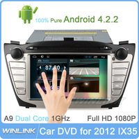 2014 Newest Pure Android 4.2 Car Gps Dvd For Hyundai Ix35 Stereo Navigator Radio Video A9 Dual Core Capacitive Screen Free Wifi