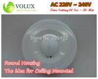 AC 220V - 240V Microwave Motion Sensor Lighti sensor Time setting 10 secs - 30mins Sensitivity Setting,ceiling mounted