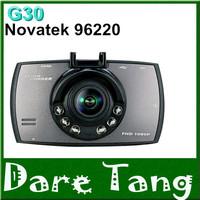 The Cheapest1920*1080P FULLHD Car dash cam DVR G30 Novatek 96220 black box 2.7 lcd+6IR Night Vision+G-Sensor car camera dvrsH60B