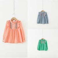 Fashion 1-6Y Baby Kids Girl Long Sleeve Shirts Ruffle Loose Tops T-shirts Blouse