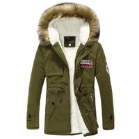 2014 New Winter Jacket Men Fashion Men's Hooded Wadded Coat Winter Thickening Coat Men Slim Casual Jacket For Men Size S-4XL